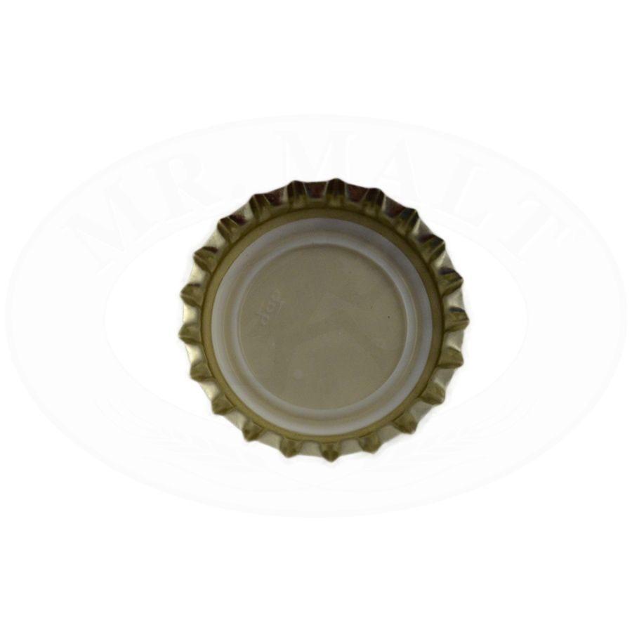 Krona korķi 26mm, dzelteni (100 gab.)