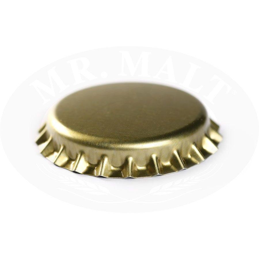 Krona korķi 29mm, zelta (100 gab.)